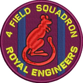 4 Fd Sqn Embroidered Badge